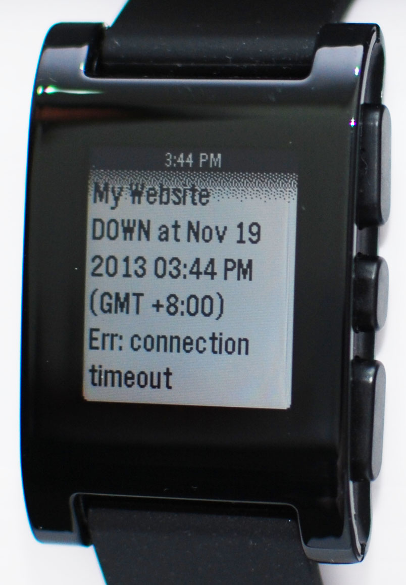 notificare Pushover pe ceas inteligent Pebble